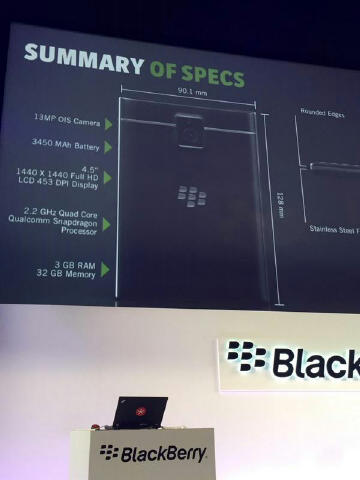 BlackBerry Passport With 4.5-Inch Square Display and BB10 ...