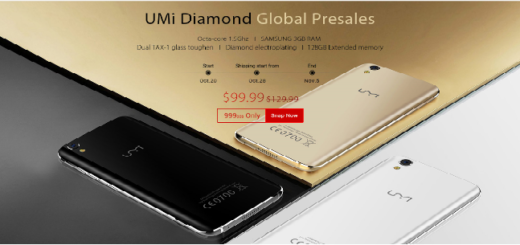 "UMi Diamond with 5"" HD display, 3GB RAM, Music Box Speaker"