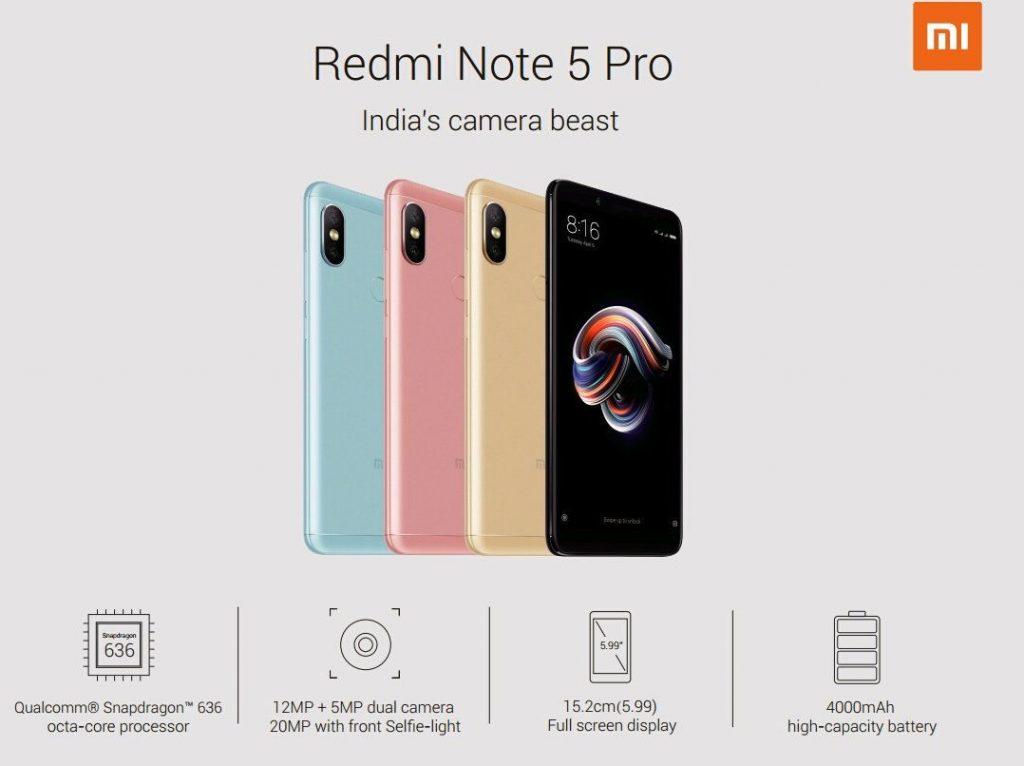 Xiaomi Redmi Note 5 Redmi Note 5 Pro Specifications